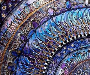 art, blue, and purple image