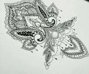 black and white and mandala image