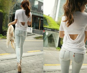 fashion, jeans, and skinny image