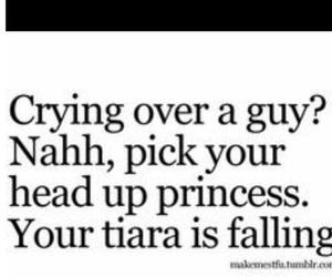 princess, tiara, and crying image
