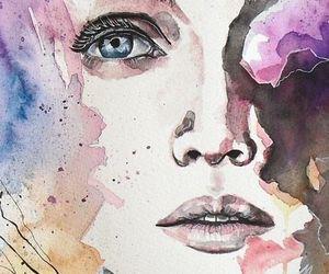 art, watercolor, and drawing image