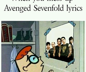 a7x, avenged sevenfold, and funny image