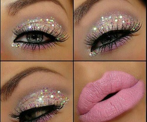 girly, pink, and glitter image