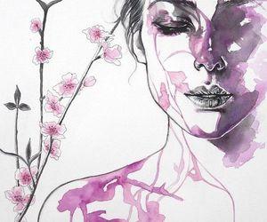 art, flower, and illustration image