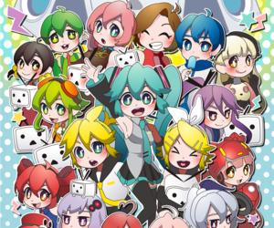 hatsune miku, kagamine rin, and kaito image