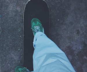 green, light blue, and skate image