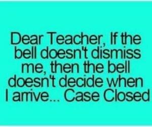 teacher, bell, and school image