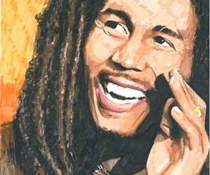 art, jamaican, and smile image