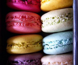 macaroons, colorful, and dessert image