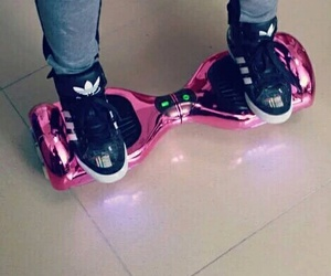 pink, adidas, and hoverboard image