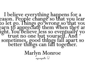 quote, Marilyn Monroe, and text image