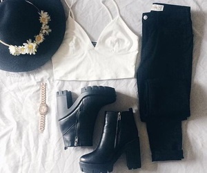 booties, fashion, and hat image
