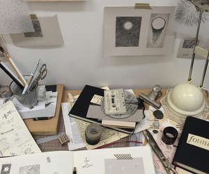 art, desk, and aesthetic image