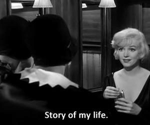 Marilyn Monroe, black and white, and life image