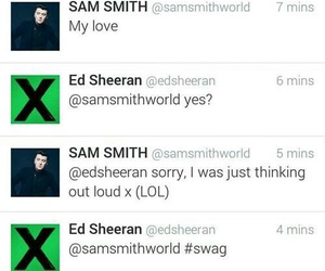 ed sheeran, sam smith, and funny image