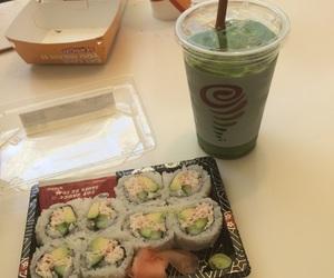 california rolls, jamba juice, and sushi image