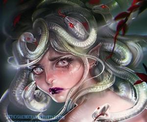 art, meduza, and serpernt image