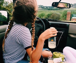 braids, tumblr, and food image