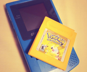 color, game boy, and pikachu image