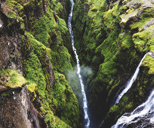 nature, waterfall, and river image
