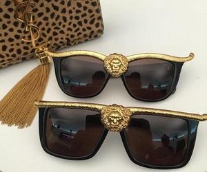 bag, sunglasses, and Versace image