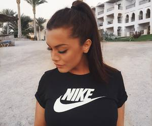 girl, nike, and beauty image