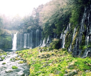 japan and waterfall image