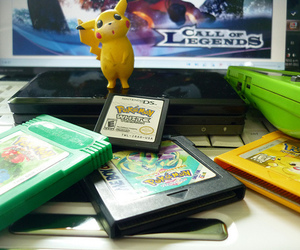ds, nintendo, and pikachu image
