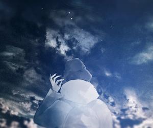 anime, boy, and sky image