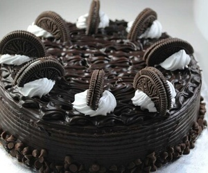 cake, chocolate, and oreo image