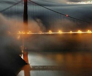 san francisco, bridge, and lights image