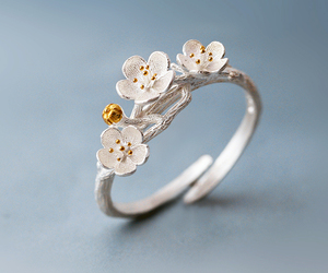 fashion, fashion jewelry, and flower image