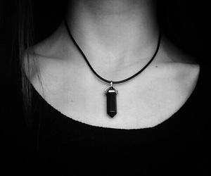 black, grunge, and necklace image