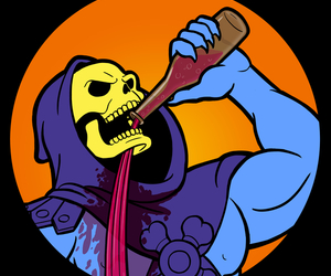drinking and skeletor image