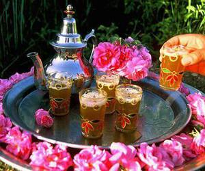 rose, tea, and morocco image