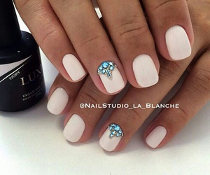 nails, girl, and manicure image