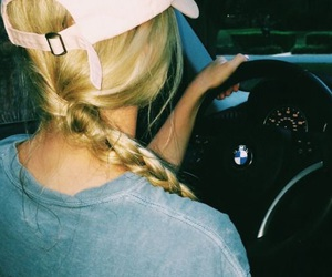 bmw, driving, and girl image