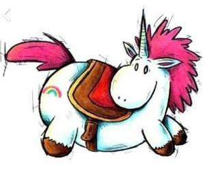 unicorn, chubby, and drawing image