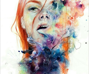 art, ginger hair, and colorful image