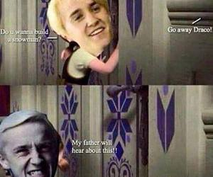 draco malfoy, frozen, and funny image