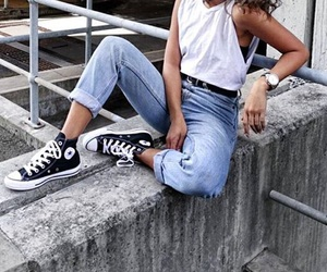 converse, denim, and fashion image