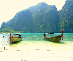 travelling, beach, and holiday image
