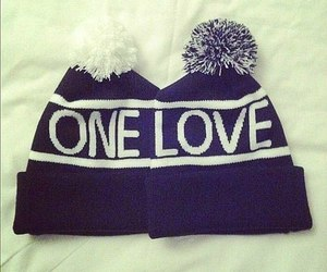 love, one love, and hat image