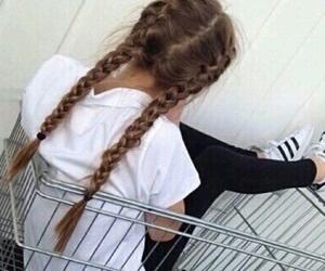 girl, adidas, and hair image