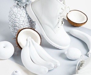 white, coconut, and banana image