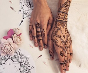 hands, henna, and style image