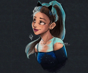 ariana grande, draw, and drawing image
