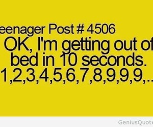 teenager post, bed, and funny image