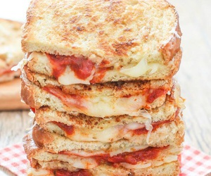 food, pizza, and sandwich image