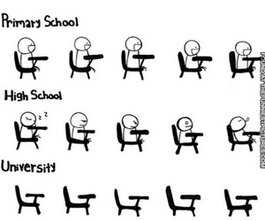 school, funny, and university image